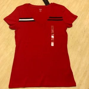 New Tommy Hilfiger Shirt In Red Size M